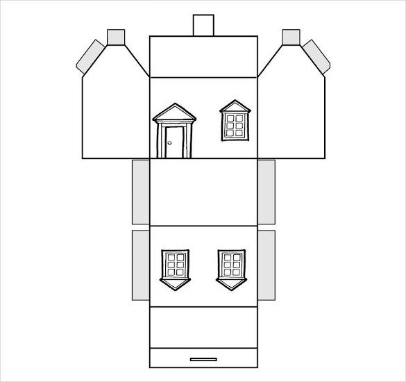 paper house template 19 free pdf documents download christmas christmas paper house. Black Bedroom Furniture Sets. Home Design Ideas