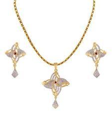 Buy Heena Floral Collection Pendent Set >> HJPN155R << Pendant online