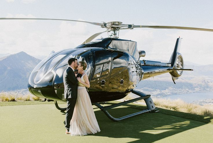 The beautiful ceremony of Alex & Lisa of @2people1life.  Delighted to dress both the beautiful #bride & the handsome #groom! #queenstown #newzealand #wedding #overthetop #helicopter @emilyadamson photography  / @nemoworkroom dress and suit http://2people1life.com/blog/ / @ottheli helicopter