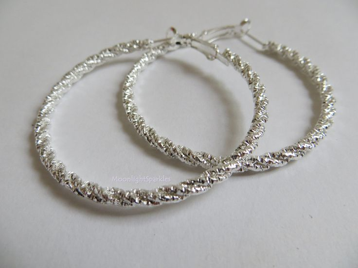 Silver Hooped Earrings