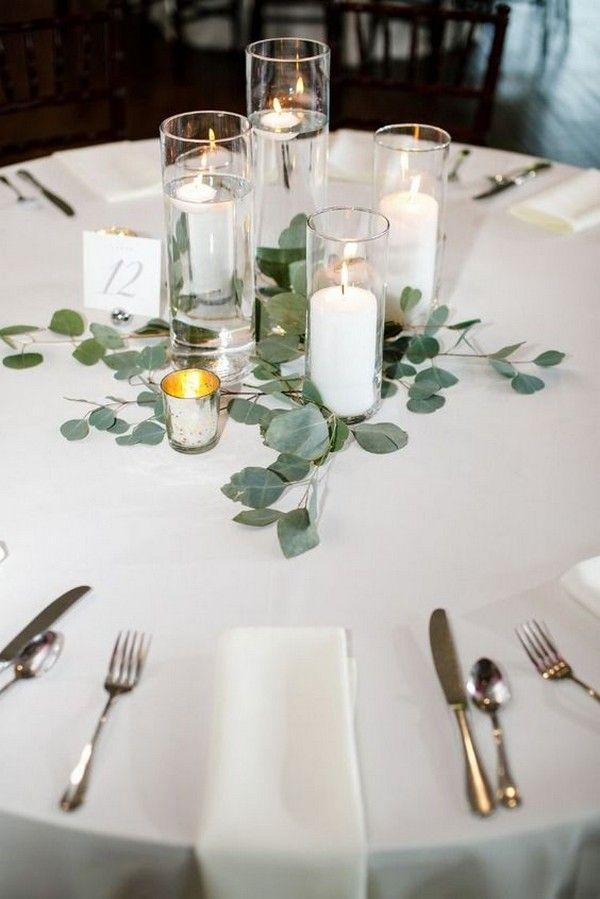 20 Budget freundliche einfache Hochzeit Herzstück Ideen mit Kerzen