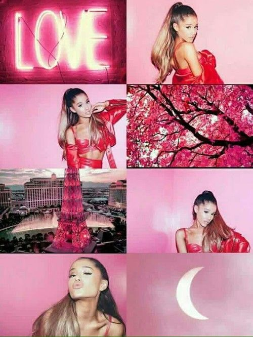 red, wallpaper, and ariana grande