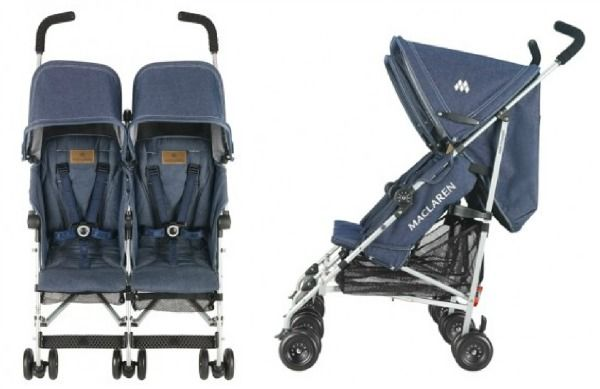 Maclaren Object of Design Denim Twin Triumph Stroller ...