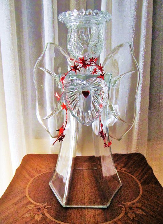 Garden Art Glass Angel Glass Angel Angel Sculpture