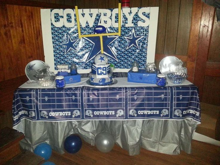 Dallas Cowboys/Football Birthday Party Ideas | Photo 6 of 11 | Catch My Party