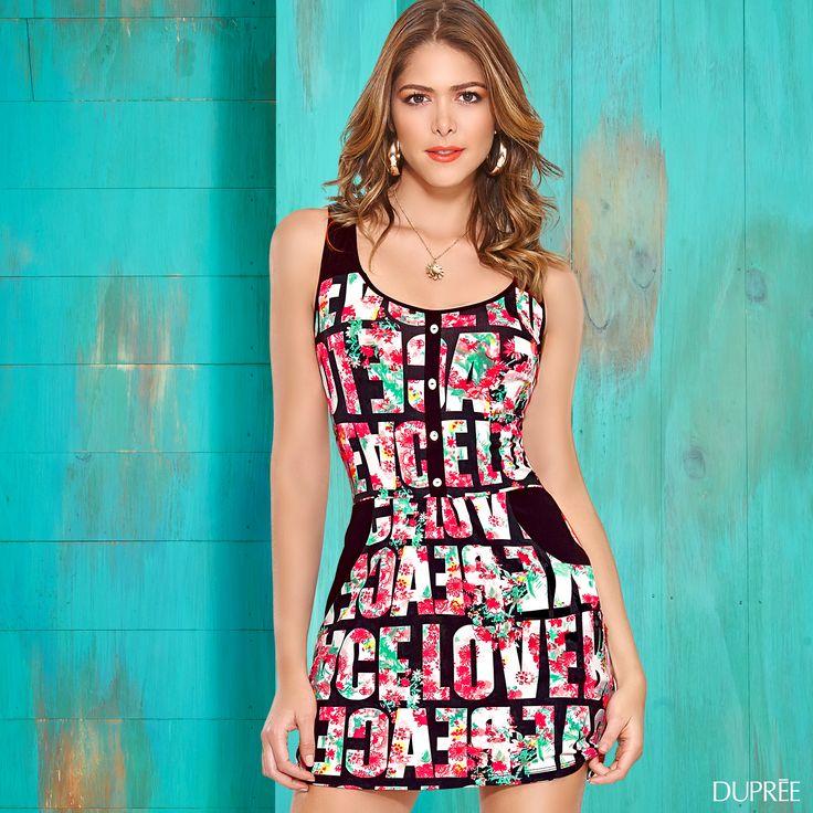Vestido moderno mujer. Clima calido. #outfit