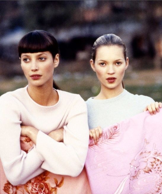 Christy and Kate photographed by Arthur Elgort for British Vogue, 1994