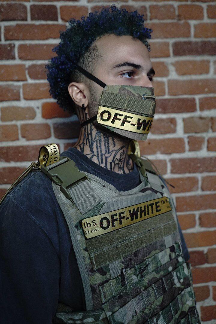 Custom made mask and bulletproof vest online by @SaraRose