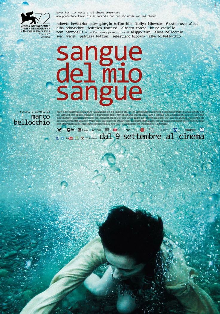 "Official poster of ""Sangue del mio Sangue"", a movie by Marco Bellocchio in competition at the 2015 edition of Venice Film Festival. By Alter Adv."