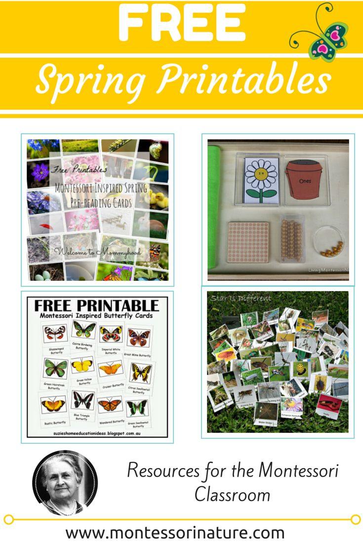 Free Spring Printables: Resources for the Montessori Classroom | Montessori Nature