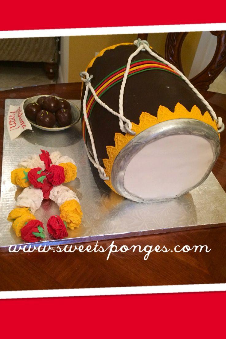Mehndi Dholki Cake : Dholki cake mehndi and cakes pinterest