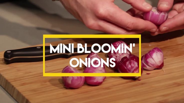 Former EpicMealTime Chef Josh Elkin came y our kitchen to show us how to make these mini bloomin' onions. READ MORE: http://www.foodbeast.com/news/how-to-mak...