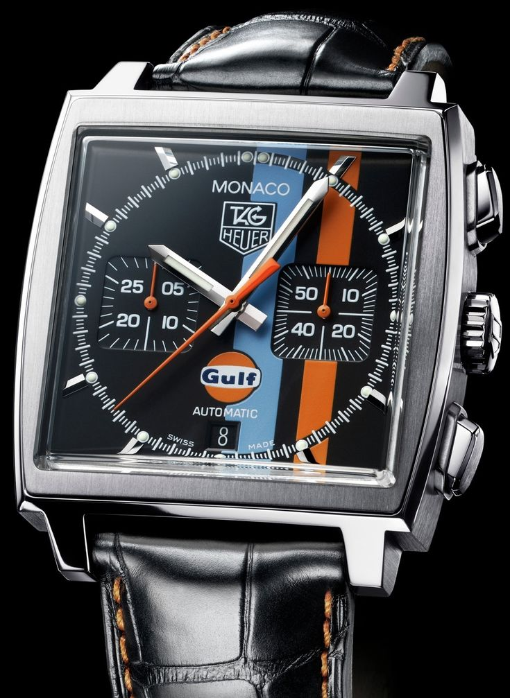 TAG Heuer Monaco Stripes | Raddest Men's Fashion Looks On The Internet: http://www.raddestlooks.org
