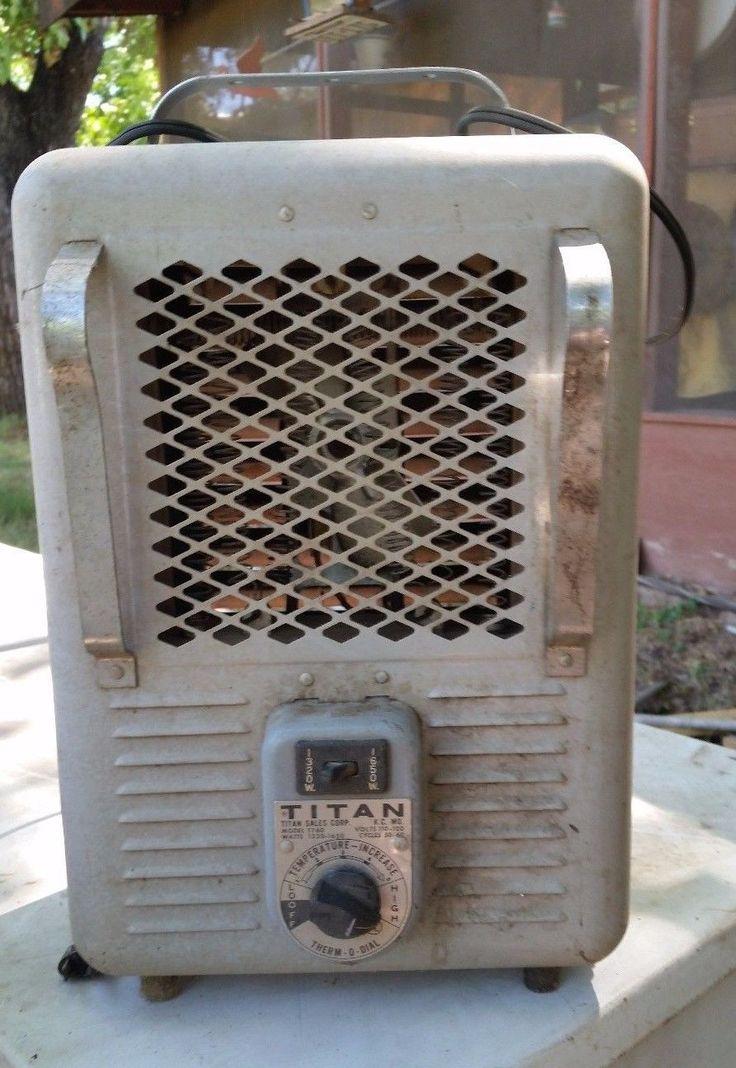 Vintage Titan Electric Space Heater 1300w 1500w Model