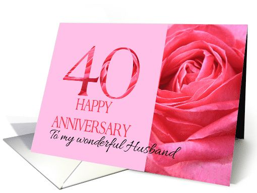 40th Wedding Anniversary Gifts For Husband: 40th Anniversary To My Husband