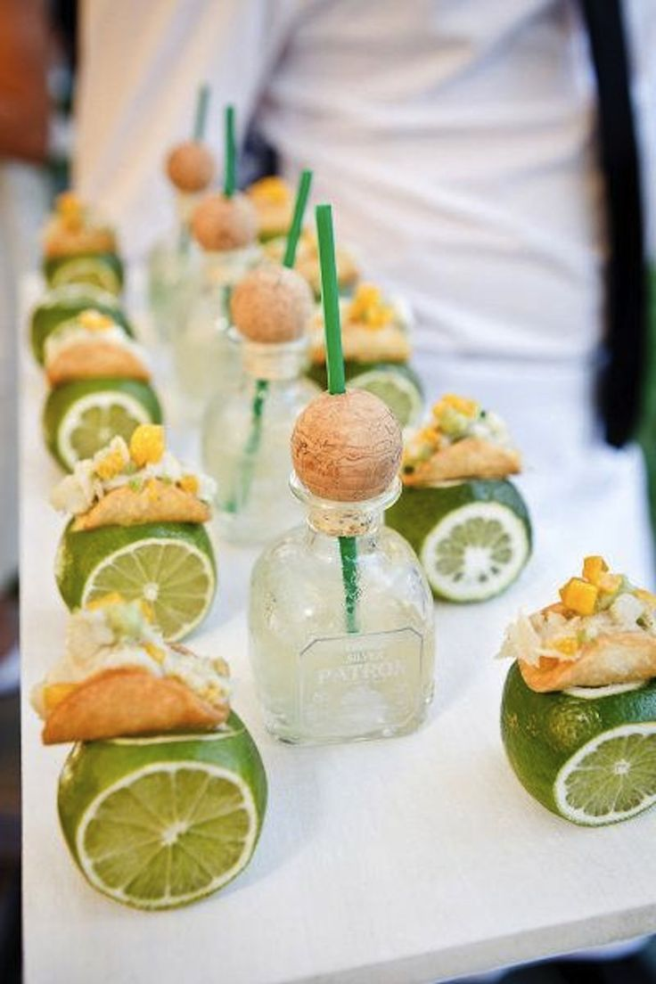 Celebrate your wedding with tacos and tequila shooters.