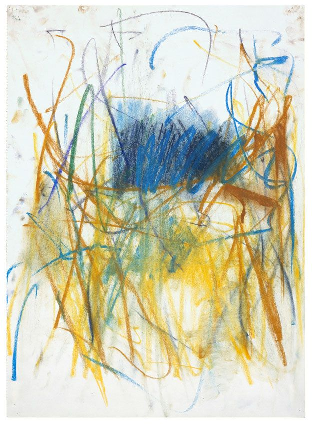 Joan Mitchell. Untitled, 1977. Pastel on paper, 19 1/4 x 13 3/4 inches