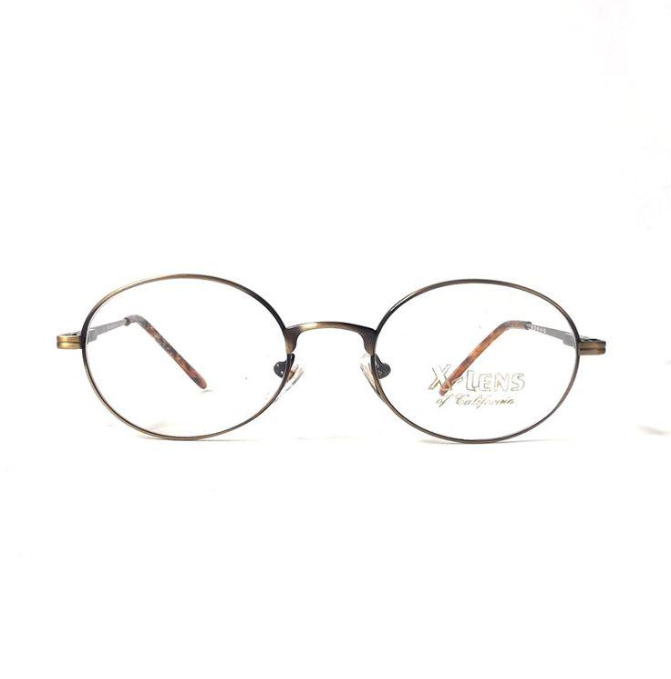 vintage 1990's NOS metal eyeglasses black bronze oval frames prescription lenses womens mens retro eye glasses round modern accessories new by RecycleBuyVintage on Etsy