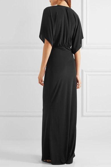 Norma Kamali - Obie Stretch-jersey Maxi Dress - Black - x small