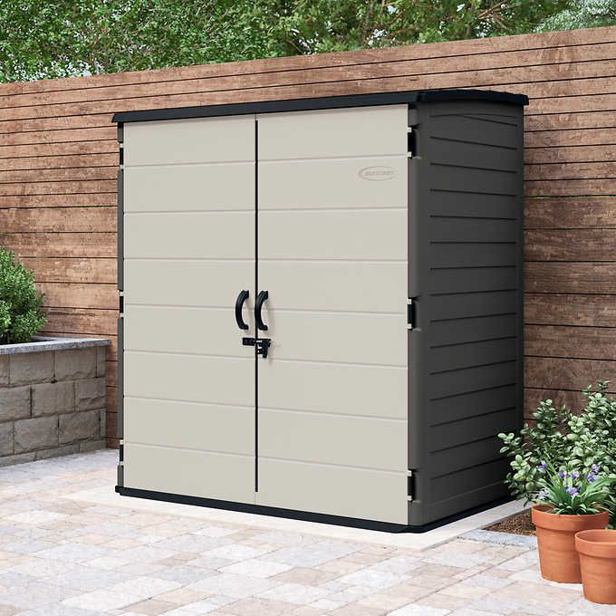 suncast 6 x 4 vertical shed outdoor