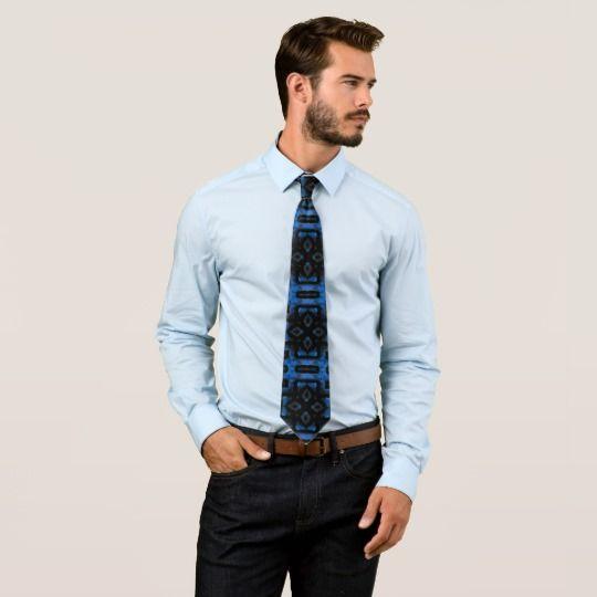 Blue Secret Tie by www.zazzle.com/htgraphicdesigner* #zazzle #gift #giftidea #tie #blue #chic #fathersday