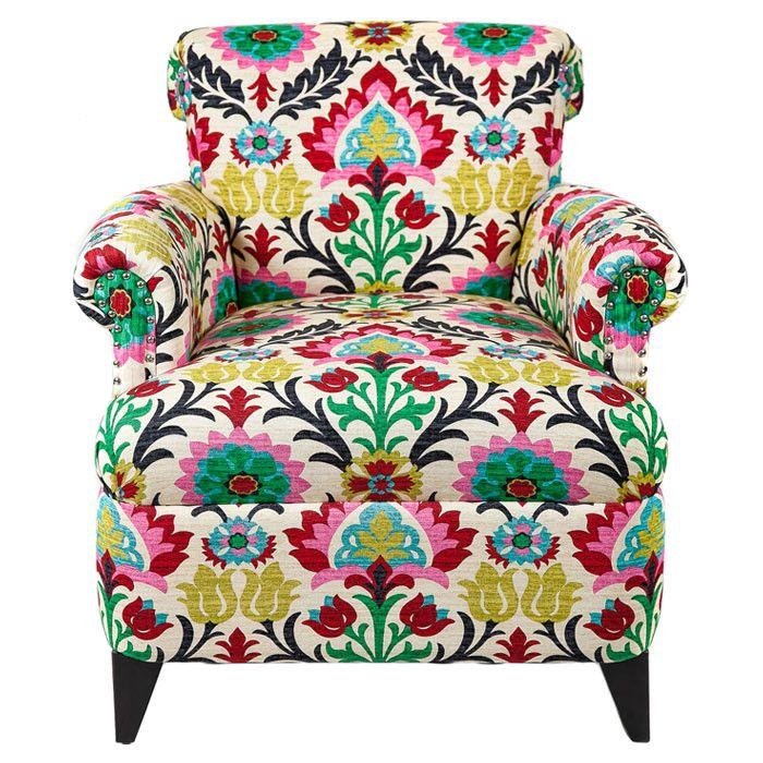 Ornate floral upholstery #design_inspiration
