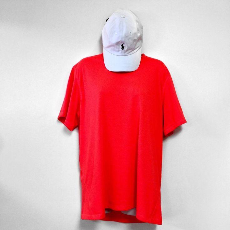 Adidas T Shirt Orange Women Tee Size Sleeve Large L Climalite Gray  | eBay