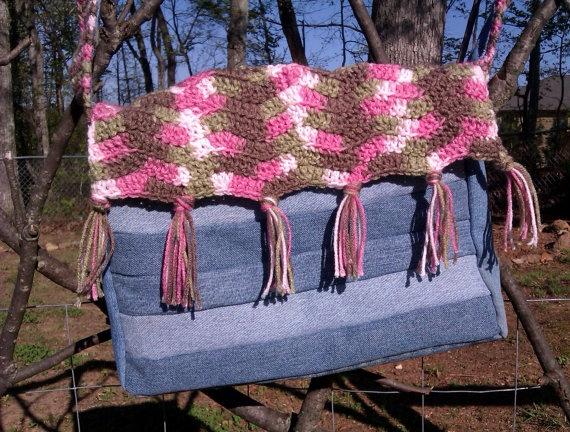 Crochet Jean Purse by PurdyCrafts on Etsy, $35.00