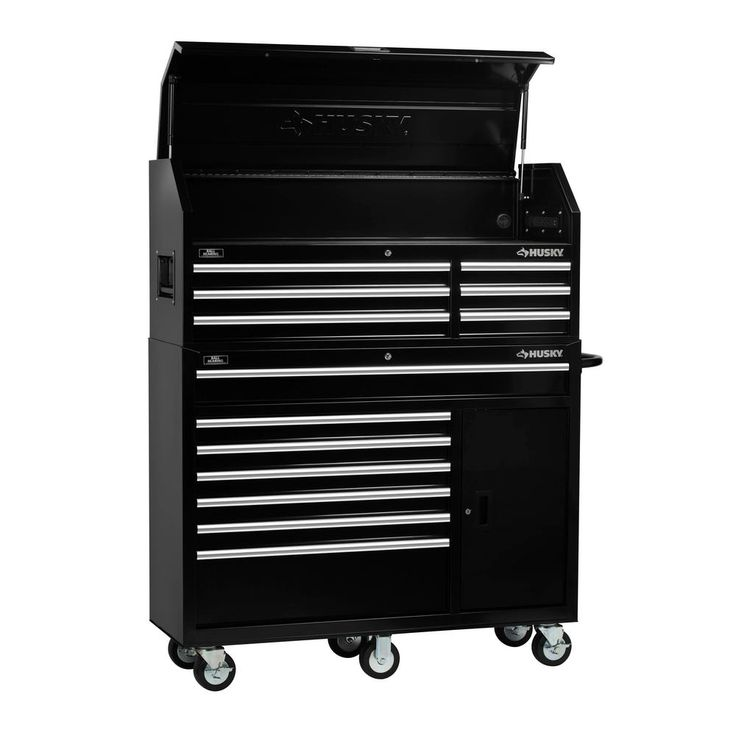 Husky 52 In 13 Drawer 1 Door Tool Chest And Cabinet