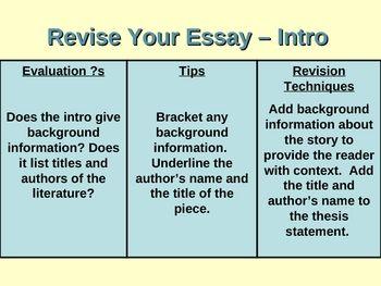 response to literature essay powerpoint