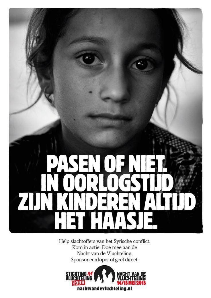 Inhaak advertentie - Pasen - voor Stichting Vluchteling.