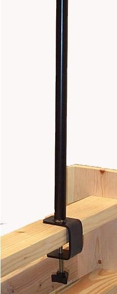 """FP6NF Clamp on pole with 20"""" height. Accepts all Erva pole components."""