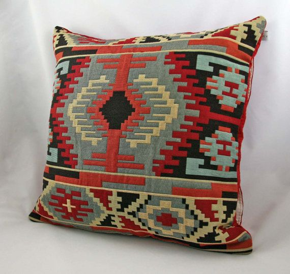 Southwestern Pillows And Rugs : 145 best Western fabric , rugs, and pillows images on Pinterest Navajo rugs, Embroidery and ...