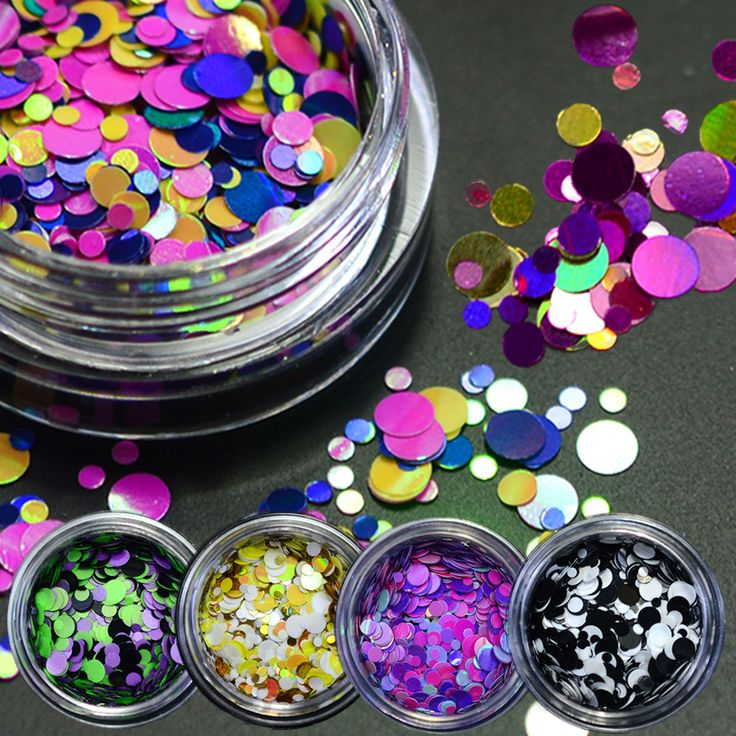 Buy 1g Thin Paillette Mixed Mini Round Nail Art Glitter Decoration Shining Manicure Nail Tip Design DIY Gel Polish Tools P17-24 at JacLauren.com