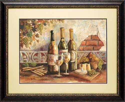 North american art bountiful wine i fine framed wholesale tuscany wine art print
