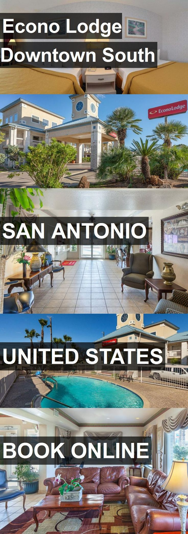 Hotel Econo Lodge Downtown South in San Antonio, United States. For more information, photos, reviews and best prices please follow the link. #UnitedStates #SanAntonio #travel #vacation #hotel