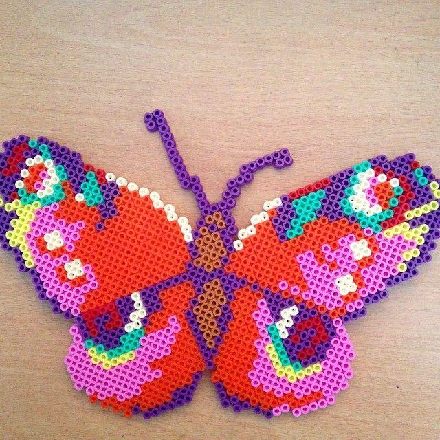 Butterfly hama perler beads by dragoneyes00