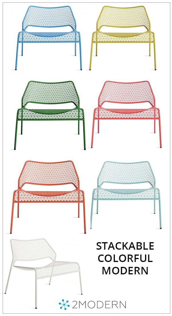 Hot Mesh Lounge Chair Metal Patio Chairs Modern Outdoor Spaces