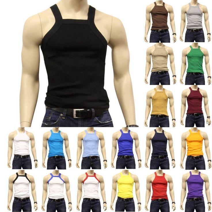 G UNIT Square Cut Ribbed Tank Top Undershirt Underwear Wife Beater Mens Cotton #Johnson #ShirtsTops