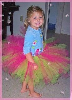How to tutu. I made a couple of them. A few bucks and 30 minutes each. Fun party idea for a bunch of little girls. Have the strips all cut and let them knot their own around the elastic.