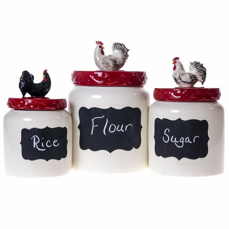 Rooster Canister Set : Rooster
