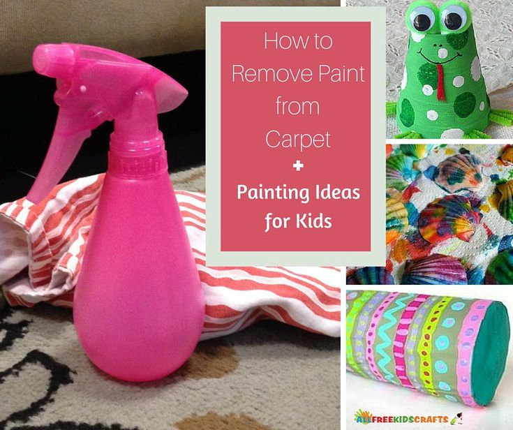 How to Remove Paint from Carpet and 6 Painting Ideas for Kids | Check out these great tips for cleaning up paint plus some fun painting crafts!