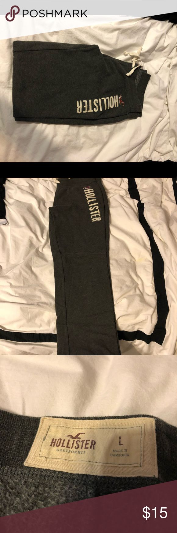 Hollister Sweatpants Gray hollister sweatpants  Great condition  Super comfy Straight leg style Hollister Pants