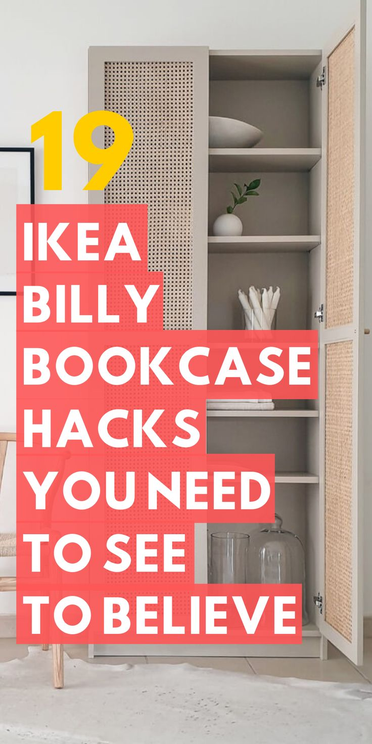 19 Ikea Billy Bookcase Hacks that are Bold and Beautiful