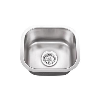 Glacier Bay Undermount Stainless Steel 32 In Single Bowl Kitchen Sink Kit In Satin 4121f Stainless Steel Bar Double Bowl Kitchen Sink Bar Sink