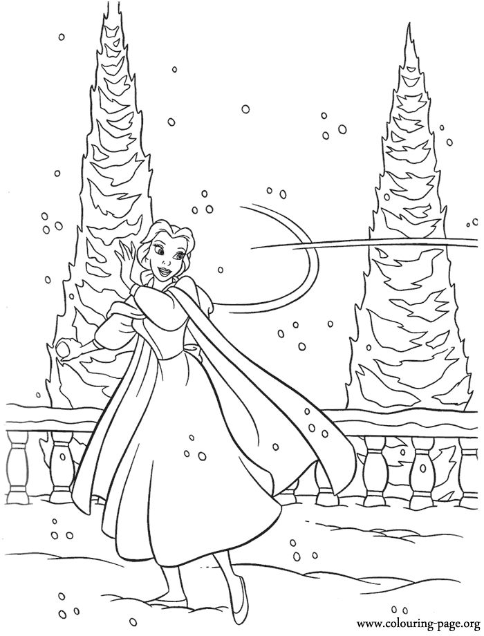 Colouring Pages Cute Disney : 41 best beauty and the beast ~ disney coloring pages images on