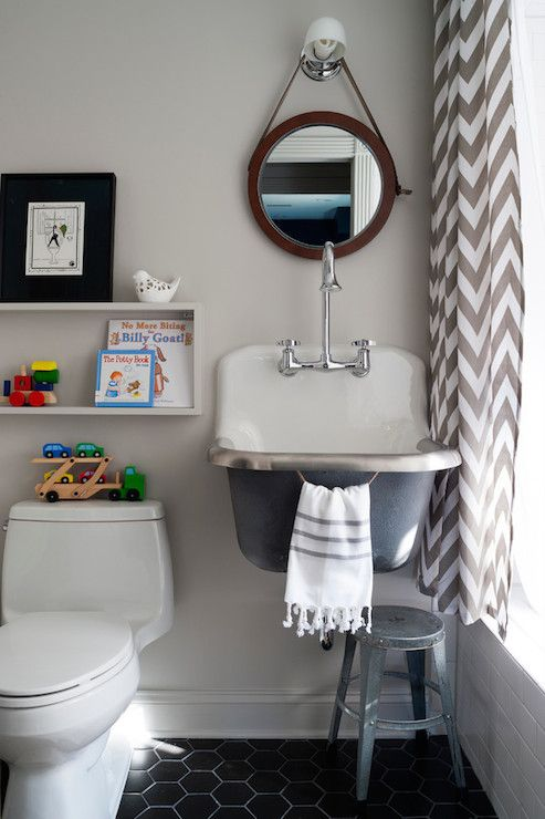 Breeze Giannasio - bathrooms - Kohler Bannon Sink, Kohler Triton Gooseneck Faucet