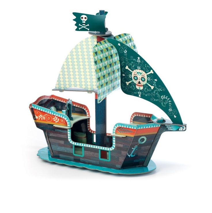 Djeco - Pop To Play Pirate Boat  I've spent hours window shopping on the Entropy website, and Angus (5) has interrupted me numerous times to see if he can have this pirate boat. Let's be honest, I want it as much as he does!   #raisingboys #djeco  #obsessedwithDjeco #EntropyWishList   #PinToWin