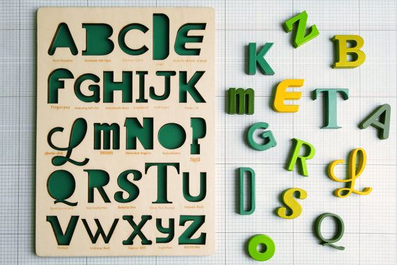 Looodus | hand crafted Font Alphabet Puzzle