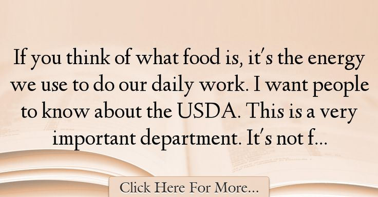 Tom Vilsack Quotes About Food - 23550